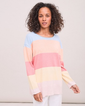 Newhouse Lisen Blockstripe Sweater Light Blue