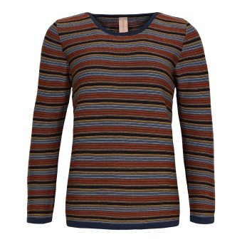 Skovhuus Boatneck Jumper Stripes Jeans blue