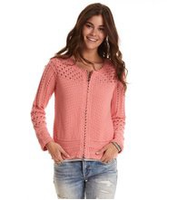 Odd Molly Symmetry moves zip cardigan Peach Blossom