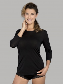 Lady Avenue Pure Silk Long T-shirt