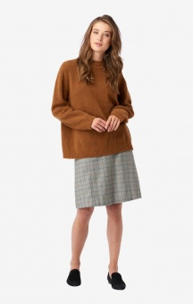 Boomerang O-neck sweater Rut Cinnamon
