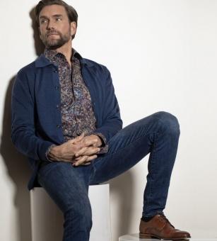 Dahlin Manlig Skjorta med bladmönster