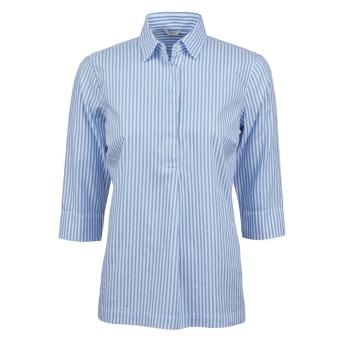 Stenströms shirt pop over navy