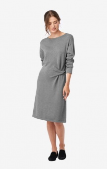 Boomerang Knitted dress Lou DK. Grey mel.