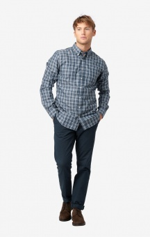 Boomerang Heather Check Shirt Regular Fit BD Cool Chambray