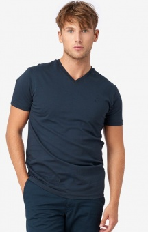Boomerang Jarl V-neck T-shirt Midnight Blue