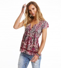 Odd Molly Beauty Call Blouse Hot Plum