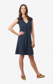 Boomerang Bella Pique Dress Blue Nights