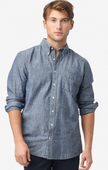 Boomerang Anders Chambray t.a fit shirt Light Indigo
