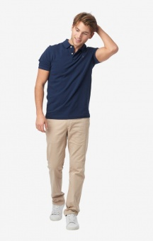 Boomerang Joe Organic Cotton Polo Pique New Blue