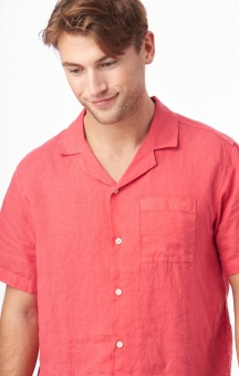 Boomerang Ebbe Solid S.S Shirt Faded Red