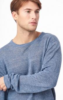 Boomerang Axel Linen O-Neck Sweater Indigo