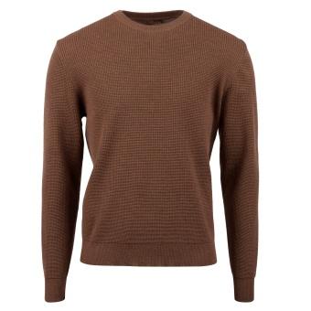 Stenstöms Crew-neck textured Merino wool