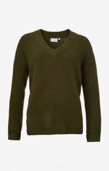 Boomerang Rutan V-neck Sweater Winter Moss