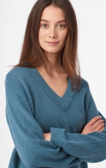 Boomerang Rutan V-neck Sweater Blue Dusk