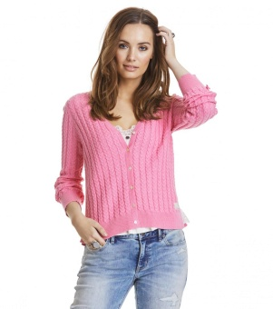Odd Molly ribbey cardigan Pink