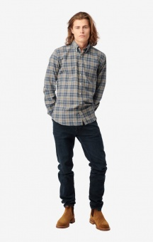 Boomerang Patrik Check Shirt Midnight Blue