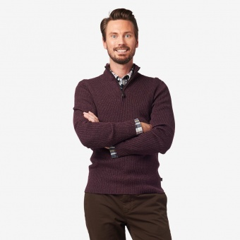 Boomerang Foreman ribbed half zip sweater