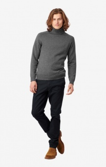 Boomerang Esbjörn Turtle Neck Sweater Grey melange