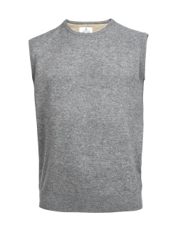 Hansen & Jacob Lambswool Crewneck Slipover Grey