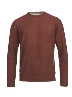 Hansen & Jacob Crew Neck Structure Merino Orange