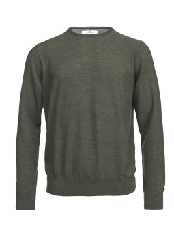 Hansen & Jacob Crew Neck Structure Merino Green