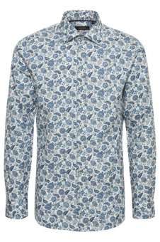 Matinique Marc Floral Print Ink Blue