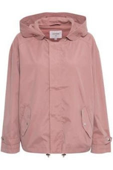 Cream Jada Parka Jacket Old Rose