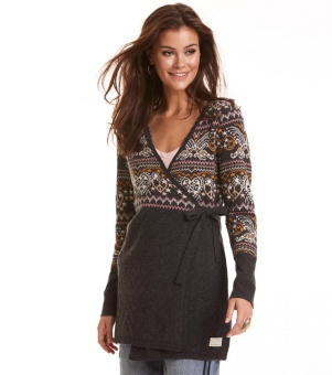 Odd Molly Artic Wings Long Cardigan Multi