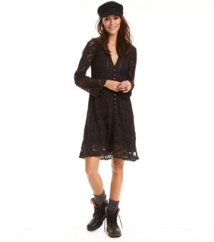 Odd Molly Nordic Alps Dress Almost Black