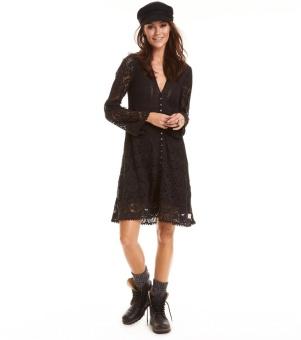 Odd Molly Nordic Alps Dress Almost Black