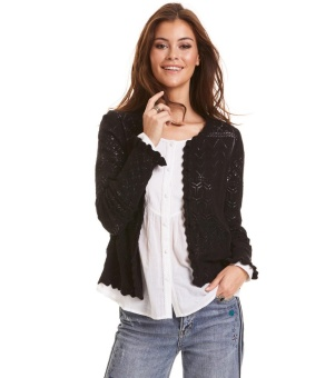 Odd Molly Space Cardigan Almost Black
