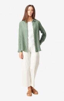 Boomerang Lina Linen Shirt Venetian Green