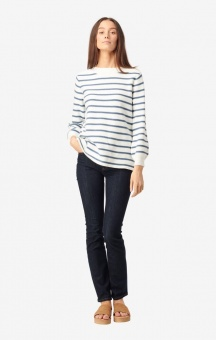 Boomerang Melissa Stripe Org.Cotton Sweater OffWhite