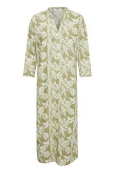 Cream Esta Long Shirt Cedar Leaf