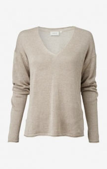 Boomerang Lilja linen Sweater Dark Putty