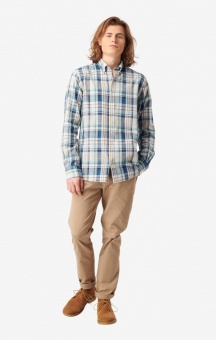 Boomeraeng Malte Multicheck Shirt Bright Nautic