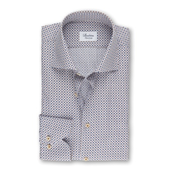 Stenströms Geometric Patterned Fitted Body Shirt