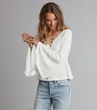 Odd Molly Howlin l/s top Light Chalk
