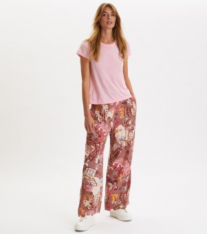 Odd Molly Puzzle Me Together Pant Red Taupe