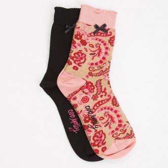 Odd Molly Socky Sock Pink Peony