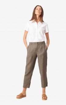 Boomerang Greta Linen Trousers Taupe