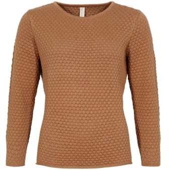 Skovhuus Jumper zipper at sleeves Toffee Brown