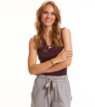 Odd Molly Rib-eye tank Burgundy
