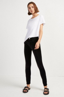 French Connection Ryha Velvet High RiseSkinny Black