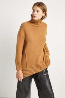 French Connection Super soft wool cashmere Dark Camel