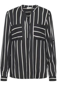Kaffe Babara Blouse Black/Chalk Stripe