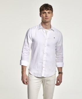 Morris Douglas Linen Shirt white