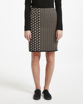 Holebrook Vicky Skirt Black/Oak Mel.