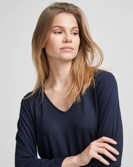 Holebrook Bianca V-neck Navy